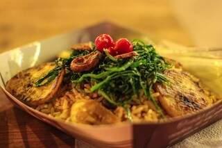 O arroz carreteiro é de comer com os olhos de tão gracioso. (Foto: Fernando Antunes)