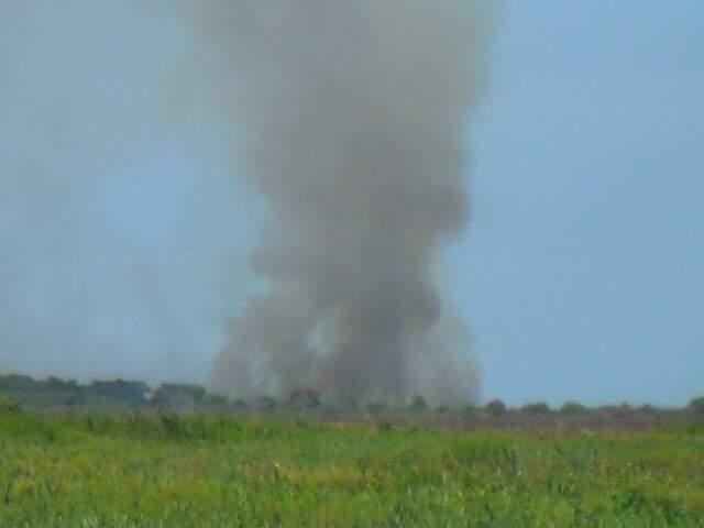 Fogo consumiu vegetação de 4 mil hectares.
