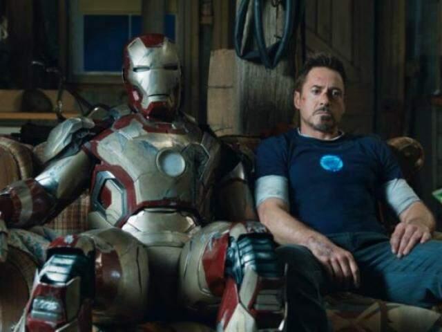 Cena do filme Homem de Ferro.