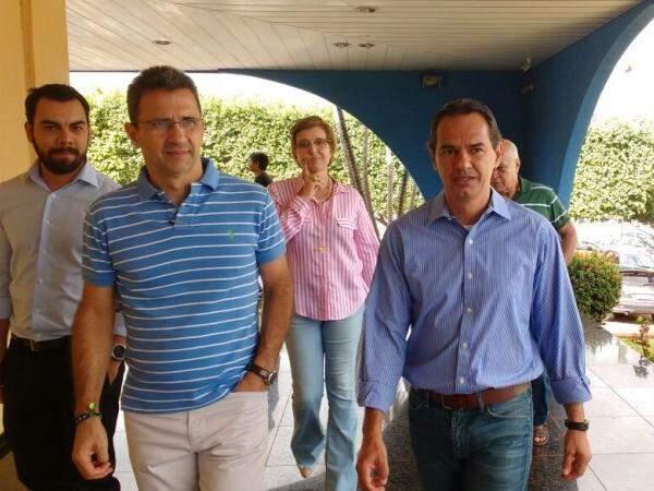 Prefeito de Campo Grande, Marquinhos Trad (PSD), neste sábado (28). (Foto: Yarima Mecchi)