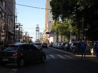 Antigo relógio foi ressuscitado no cruzamento da 14 de Julho com a Avenida Afonso Pena (Foto: Divulgação/PMCG)