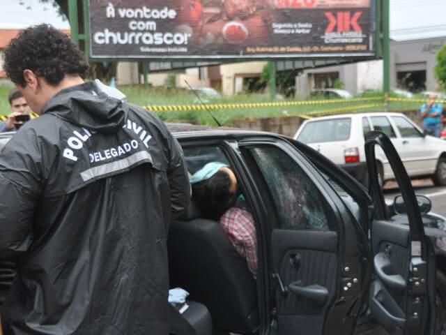 Andrey Cunha foi executado com tiro na nunca. (Foto: Marlon Ganassin)