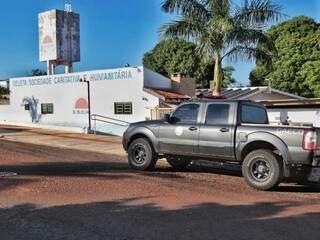 Gaeco está na sede da Seleta, em Campo Grande. (Foto: Fernando Antunes)