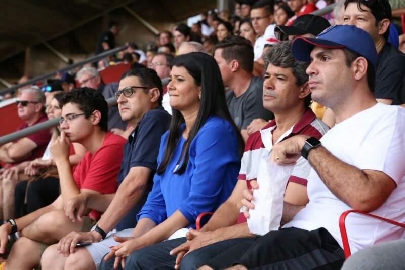 Governadora em exercício também participou do jogo. (Foto: Marcos Ermínio)