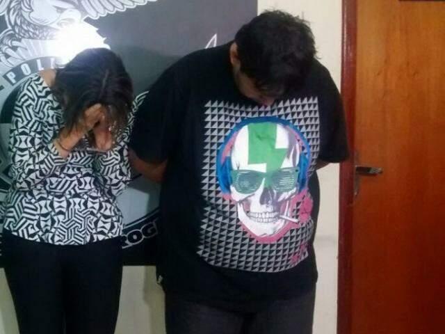 Eliane e Gustavo forma presos durante uma entrega na Avenida Ceará. (Foto: Divulgação Polícia Civil)
