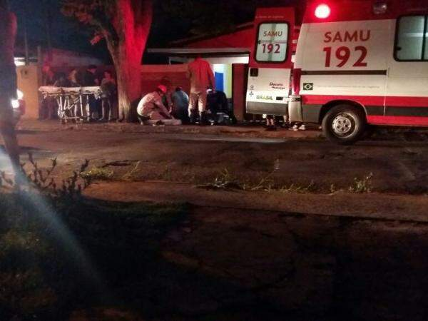 O garoto chegou ficar inconsciente mais foi reanimado pelos socorristas. (Foto: Willian Leite)