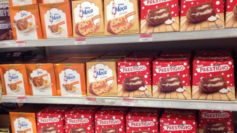 Chocotones de vários sabores por R$ 11,98. (Foto: Elci Holsback)