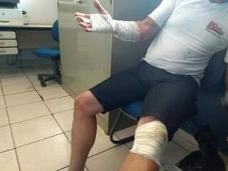 Motorista pediu para não ter o rosto exposto quando ainda sustentava história de assalto (Foto: Adilson Domingos)