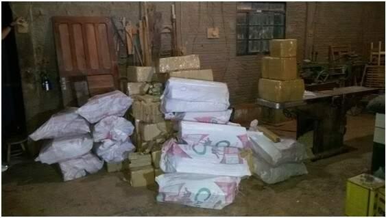 Cerca de 1,4 tonelada da droga foi encontrada pela polícia no local (Foto: Divulgação/Polícia Civil)