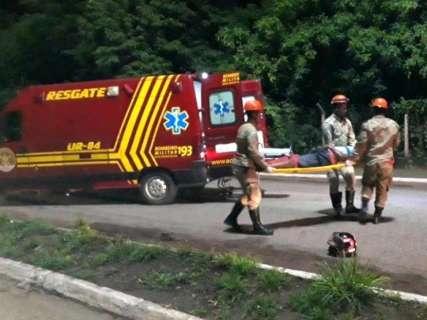 Mototaxista clandestino foge, depois de causar acidente com vítima em avenida