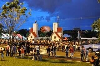 Cidade do Natal fica aberta ao público até o dia 6 de janeiro. (Foto: Prefeitura de Campo Grade)