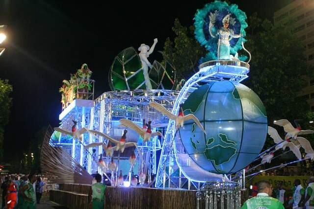 Última alegoria fez um apelo à preservação ambiental.(Foto: Ary Delgado/Jornal SRDZ-Carnaval)