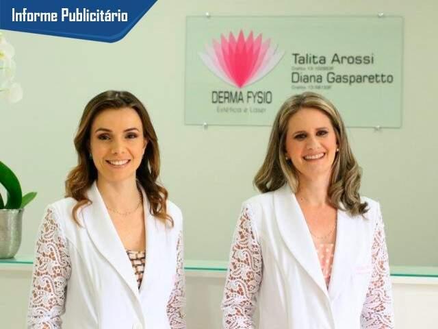 Derma Fysio é comandada pelas fisioterapeutas Talita Arossi e Diana Gasparetto. (Foto: André Bittar)