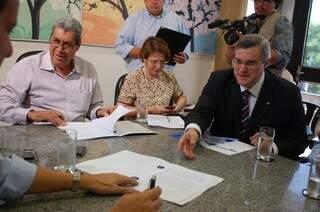 André participou da solenidade de assinatura de convênio e empréstimos, através do FCO (Foto: Pedro Peralta)