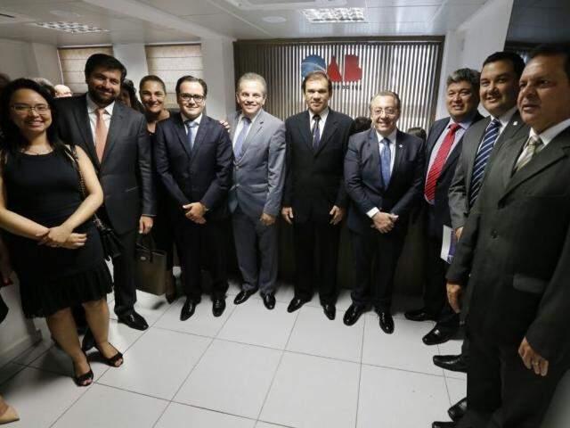 Membro da OAB durante inauguração da nova sala. (Foto: Divulgação/OAB-MS)