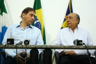 Bernal ao lado de seu secretário de Governo, Pedro Chaves (Foto: Marcos Ermínio)
