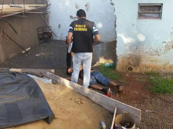Pedreiro foi morto nesta manhã em Dourados (Foto: Sidnei Bronka/94 FM)
