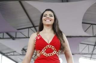 Favorita entre as detentas, quem levou o título de Miss Penitenciária deste ano foi Helen Moraes (Foto: Cleber Gellio)