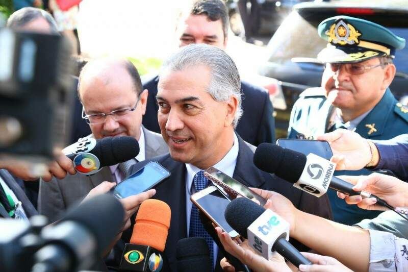 Governador Reinaldo Azambuja afirmou hoje que vai se reuniu com presidente da Petrobras em março, para discutir situação do gás natural. (Foto: Marcos Ermínio)