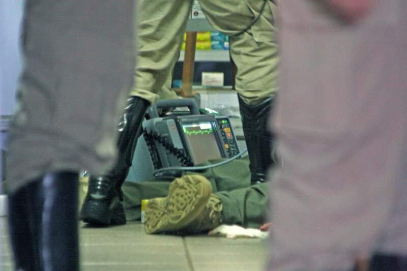 Policial civil foi morto em farmácia da Capital em 12 de março do ano passado. (Foto: Marcos Ermínio)