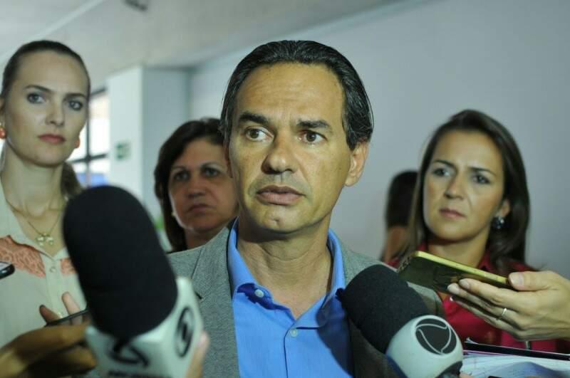 Marquinhos Trad após a audiência de conciliação no Fórum de Campo Grande. (Foto: Alcides Neto)