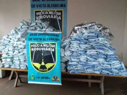 Perseguição resulta em apreensão de 680 quilos de agrotóxicos do Paraguai