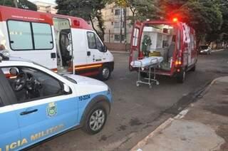 A vítima morreu no pátio da unidade. (Foto: Marcelo Calazans)