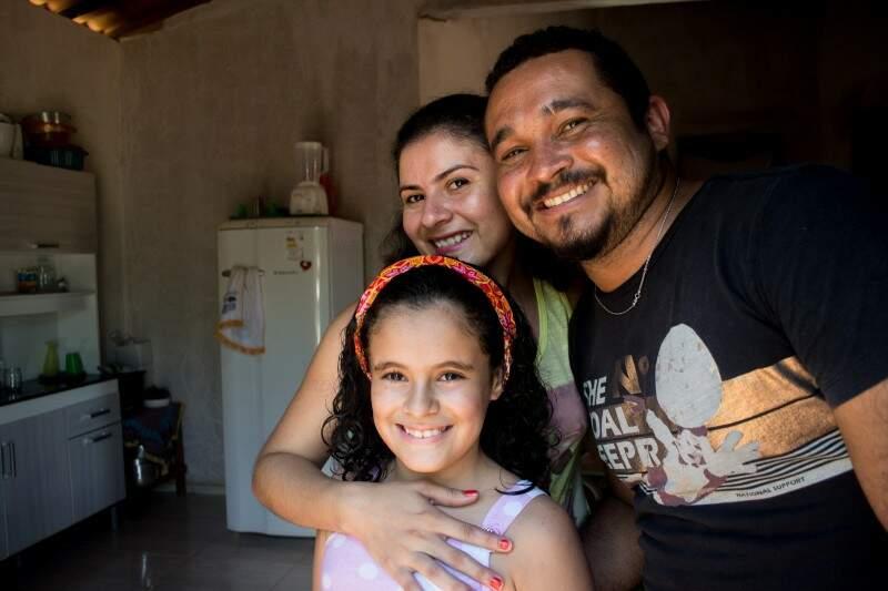 O sorriso da família em Juazeiro do Norte, no Ceará. (Foto: Evandro Sudre)