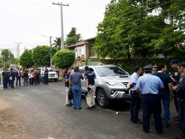 Caminhonete foi fuzilada por pistoleiros e garoto de cinco anos morreu (Foto: ABC Color)