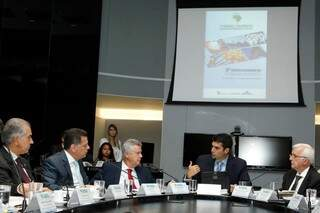 Reunião aconteceu nesta manhã, em Brasília. (Foto: Sudeco)