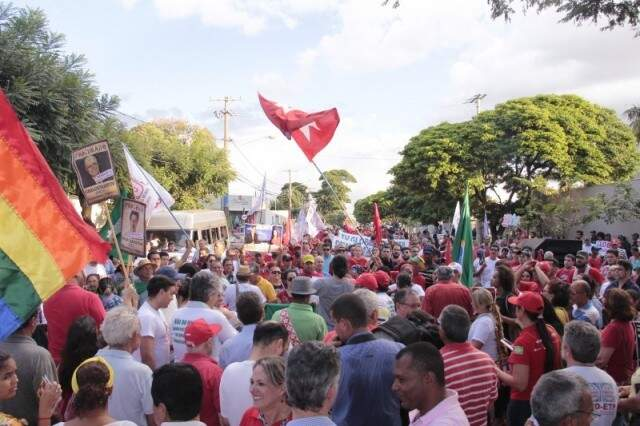 Manifestação contra o impeachment de Dilma. (Foto: Arquivo)