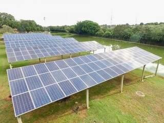 Maior estacionamento fotovoltaico de Mato Grosso do Sul (Foto: divulgação)