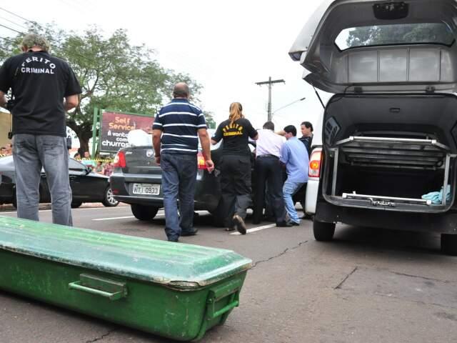 Execução aconteceu no dia 23 de fevereiro, na rua Rio Grande do Sul. (Foto: Marlon Ganassin)