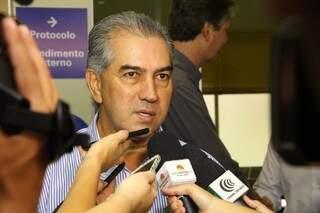 Governador Reinaldo Azambuja disse que vai aguardar decisão do STF para decidir futuro do secretário de Justiça e Segurança Pública (Foro: Marcos Ermínio)