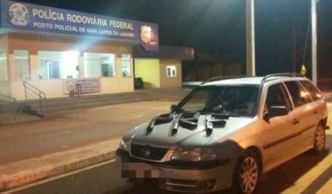 Dois mecânicos são presos pela PRF com nove quilos de cocaína