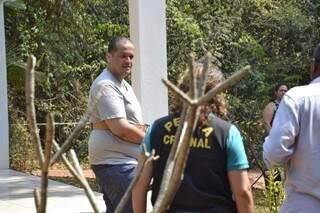 Evandro durante a reconstituição do crime no dia 13 de setembro. (Foto: Rodrigo Pazinato)
