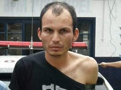 Erimar tentou fugir mais foi preso em flagrante junto ao comparsa. (Foto: Divulgação Polícia Militar)