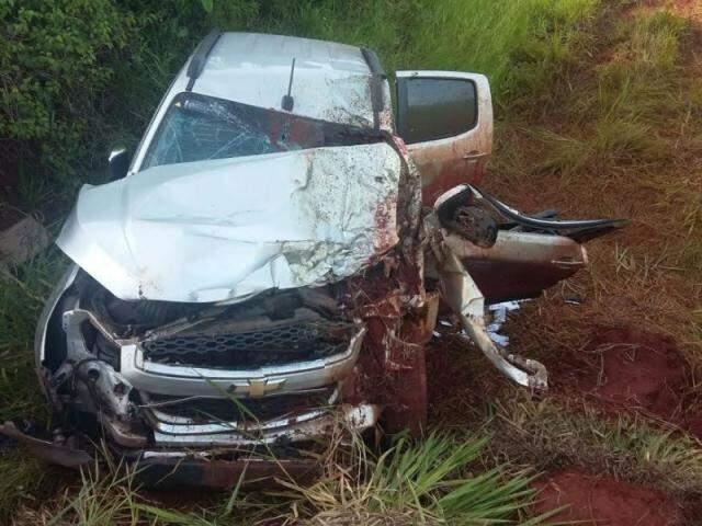 Acidente deixou fazendeiro ferido (Fotos: Vicentina Online)