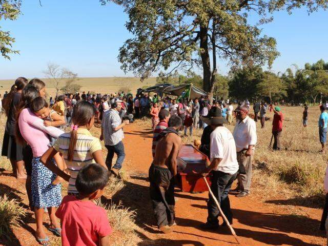 Fazenda Yvu, onde índio foi morto em junho (Foto: Helio de Freitas)