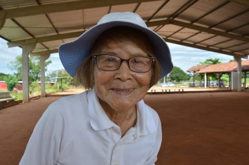 Dona Matsuko, senhorinha japonesa que tem tanta energia quanto brilho nos olhos. (Foto: Paula Maciulevicius)