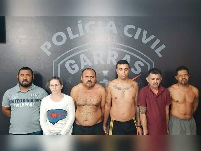 Grupo foi preso em operação no domingo; um deles foi ferido e internado na Santa Casa (Foto/Divulgação)