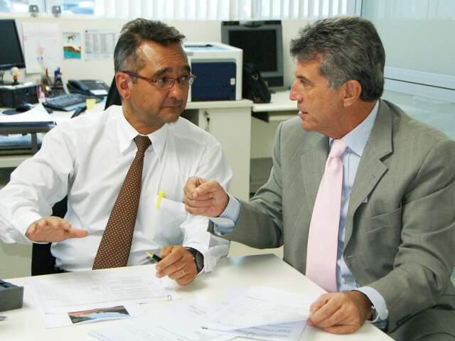Superintendente da Sudeco e prefeito de Dourados durante reunião (Foto: Divulgação)