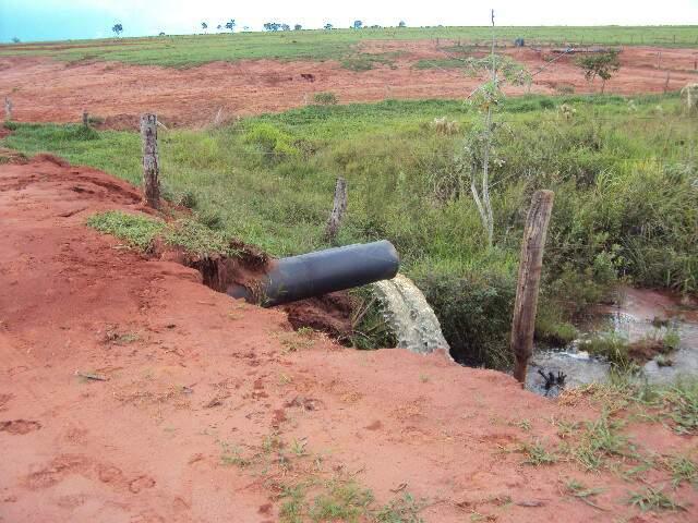 A Polícia constatou desprezo com a conservação do solo nas áreas mais afetadas. (Foto: divulgação)