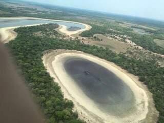 Lagoa formada em decorrência do desmatamento na Bacia do Rio Taquari (Foto: Divulgação)