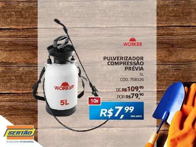 Pulverizador Compressão Prévia 10x R$ 7,99 sem juros