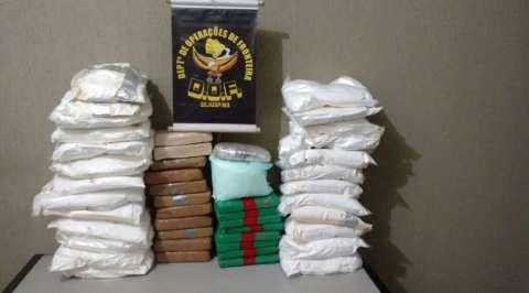 Traficantes ignoram fiscalização e são presos com 72 quilos de cocaína