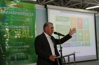 Governador do Estado, Reinaldo Azambuja (PSDB). Em novembro, ele lançou o Portal da Transparência. (Foto: Arquivo)