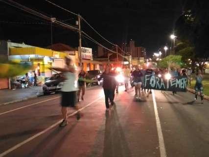Manifestação contra Temer e preço dos combustíveis fecha a Afonso Pena