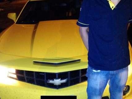 Camaro amarelo roubado na Capital é apreendido antes de cruzar a fronteira