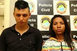 O casal foi preso depois da vítima os perseguir (Foto: Marcos Ermínio)
